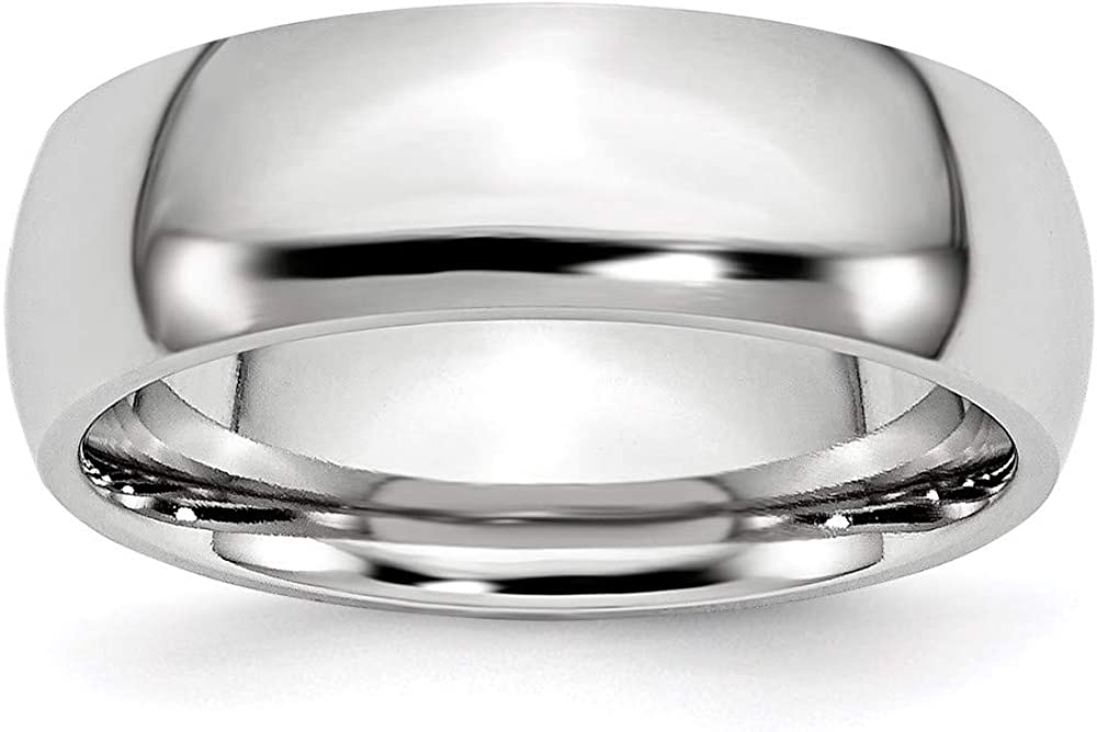 ICE CARATS Cobalt 7mm Half Round Wedding Ring Band Classic Domed Fashion Jewelry for Women Gifts for Her