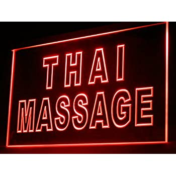 160062 Thai Massage Nerve Relax Relieve tension Display LED Light Sign