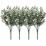 4 piezas de ramas de eucalipto artificiales de eucalipto, arbustos de hojas de spray de imitación de eucalipto para el hogar, jardín, decoración de boda, arreglo floral