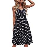 Vestido de verano para mujer, de un solo color, elegante, sin mangas, largo hasta la rodilla, informal, línea A, sexy, sin mangas, multicolor, para fiestas