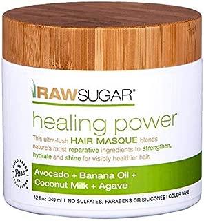 Raw Sugar Living Healing Power Hair Masque Avocado, Banana Oil, Coconut Milk, Agave