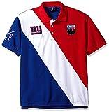 Klew NFL Men's City Crest, Diagonal Stripe Polo Shirt, New York Giants, Large
