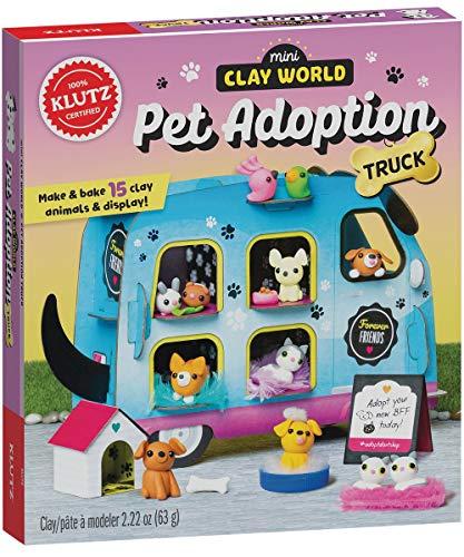Mini Clay World Pet Adoption Truck: Make & Bake 15 Clay Animals & Display! (Klutz)