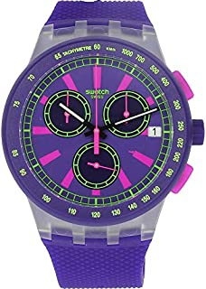 Swatch Purp-Lol SUSK400 Matte Purple Silicone Quartz Fashion Watch