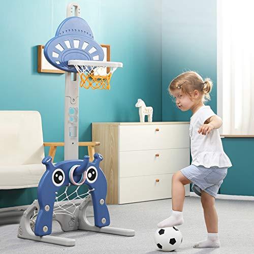 4-in-1 Kids Basketball Hoop Stand Set, Adjustable Height Portable...