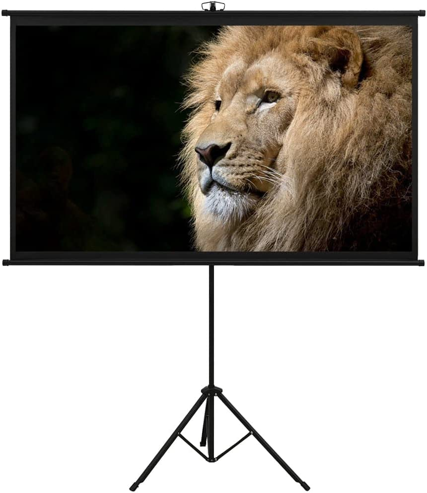 vidaXL Projection Screen Home Theater Indoor Film Public Display Screen Office School Interior Conference Room Presentation with Tripod 50