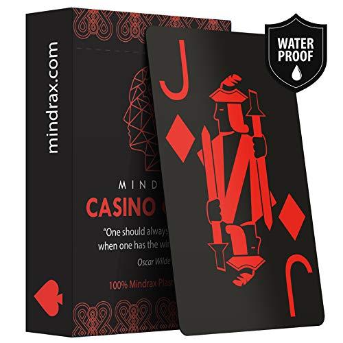Mindrax ® wasserfeste Profi Spiel-Karten | Poker Texas-Holdem Party-Spiele | Geschenk für Gastgeber