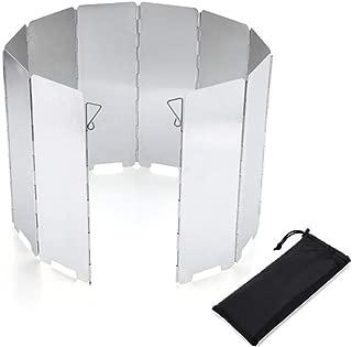 DXWSLJHB Parabrisas de la Estufa de Campamento, 10 Placas Estufa de Cocina Plegable al Aire Libre Liviana Pantalla de Viento para Mochilas Estufas Estufas de butano Estufas de Alcohol