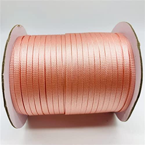 5 Yardas / Lote 4mm Cuerda Plana Encerada Cuerda de Hilo Encerado Correa de Cuerda DIY Pulsera Collar Cuerda para Hacer Joyas Pulsera trenza-14