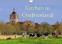 Kirchen in Ostfriesland (Wandkalender 2022 DIN A4 quer): Eine Auswahl der schoensten Kirchen an der Nordseekueste (Monatskalender, 14 Seiten )