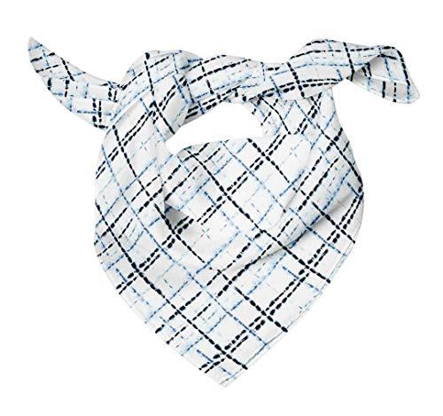 Bimba Blau prüfen shibori reiner Seide bedruckter Schal Dupatta Head Neck Wrap Bandanas für Frauen 40 x 40 Zoll