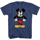Disney Tough Mickey Mouse Men's Adult Graphic Tee T-Shirt (Navy Heather, Medium)
