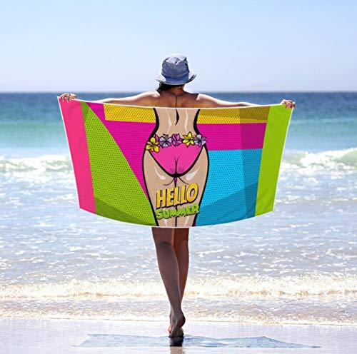 Toallas de Playa 3D Toalla de Playa de Microfibra 80 x 160 cm Supersuave Toalla Deportiva Secado Rápido Absorbente para Deportes, Viajes, Camping Esterilla de Yoga Divertido Sexy