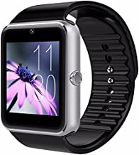 CNPGD Bluetooth Smart Watch(Partial Compatible for IPHONE)+(Full Compatible for Android phone) +Unlocked Watch Cell Phone+Fitness Tracker Camera Pedometer for Kids, Men and Women(Silver)