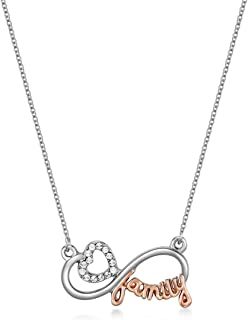 Mestige Women Glass Family Ties Necklace with Swarovski Crystals
