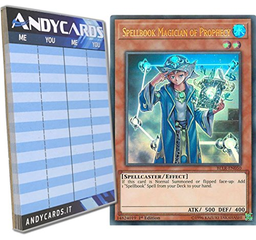 Yu-Gi-Oh! - MAGO LIBRO DI MAGIA DELLA PROFEZIA - Ultra Rara BLLR-EN050 in INGLESE + Segnapunti Andycards