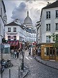 Poster 30 x 40 cm: Straßen von Montmartre und Sacre Coeur