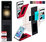 Cover for BQ Aquaris U Plus Case | in Red | Multifunctional