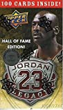 Michael Jordan Hall of Fame Factory Sealed Limited Edition Box Set with 100 Cards Includes Awesome 1986 Fleer Rookie Reprint Card! 100 Michael Jordan Cards i... rookie card picture