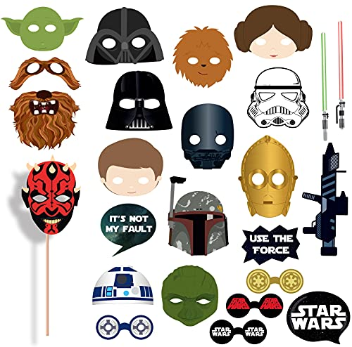 Star Wa_rs Photo Booth Props – 25pcs sta_r Wars Party Decorations Photo Props Set for Kids
