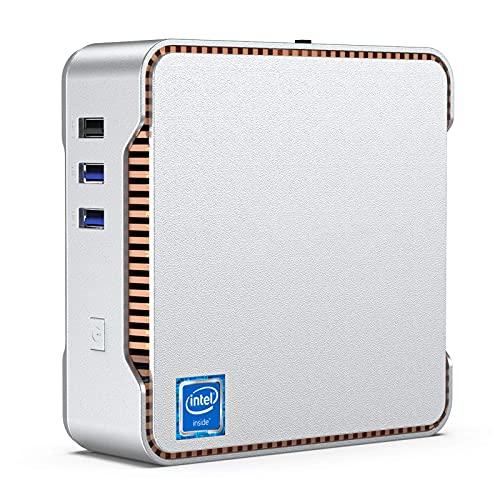Mini-PC,Intel Celeron J4125,6GB RAM+128GB ROM,Windows 10 Pro (64-Bit),Dual WiFi 2.4/5G, Bluetooth 4.2,4K HD,2 HDMI+1 VGA/USB3.0 Port Mini-Computer-Desktop