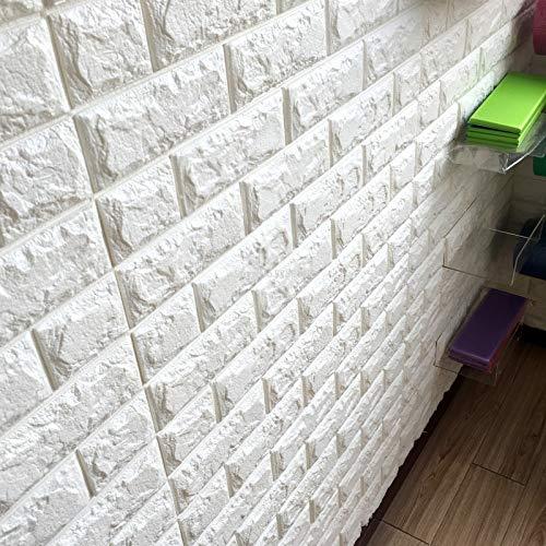 BLOUR Neue 3D Backstein Wandaufkleber Tapete Dekor Schaum wasserdichte Wandverkleidung Tapete für Kinder Wohnzimmer DIY Hintergrund