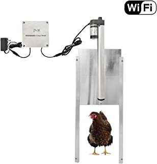 JVR Chicken Coop Door Automatic Opener Kit, Waterproof WiFi Timer Controller Actuator Motor Mobile/Remote Control, 12V DC Power (WiFi)