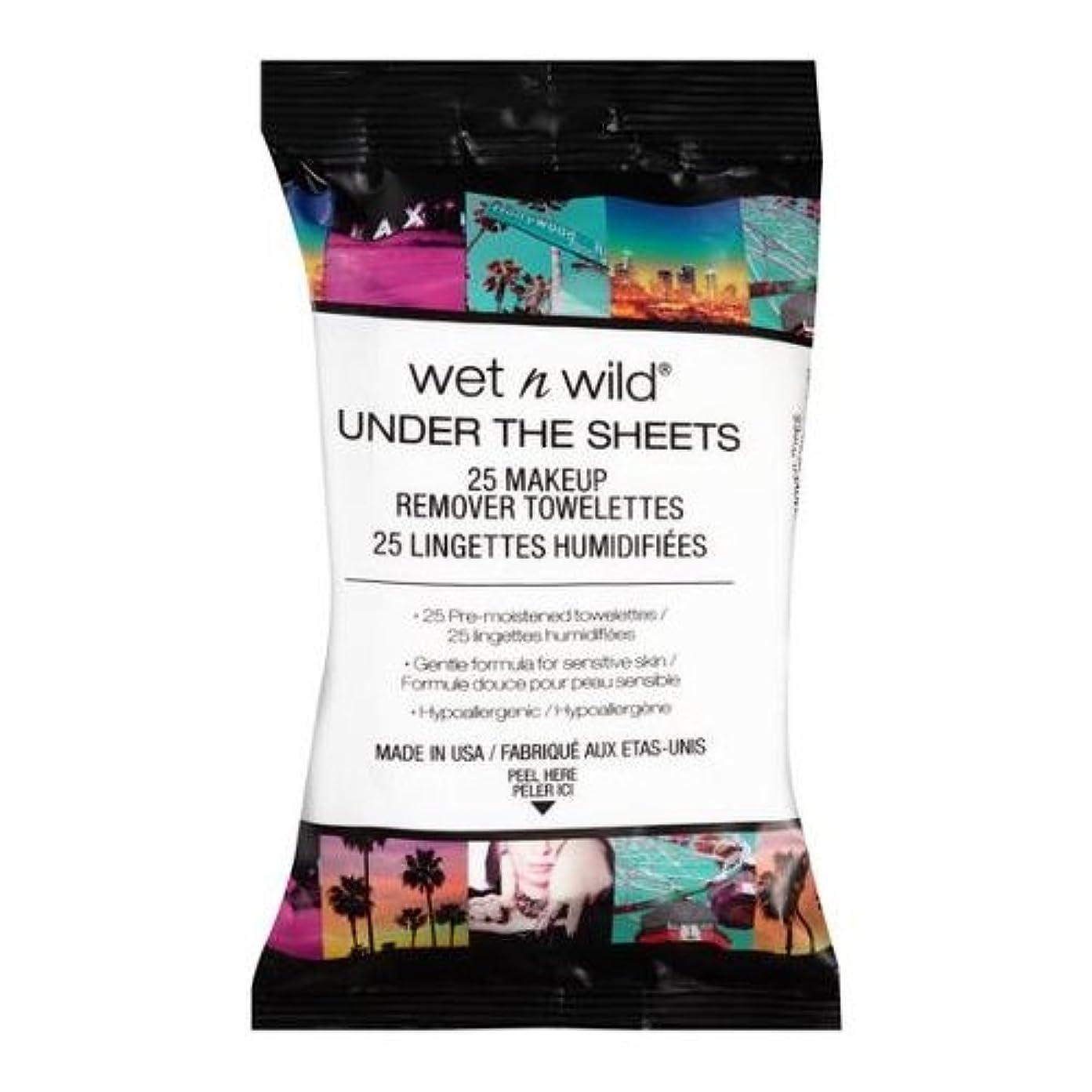 クラウド富シャイ(3 Pack) WET N WILD Under the Sheets Makeup Remover Wipes - 25 Towelettes (並行輸入品)