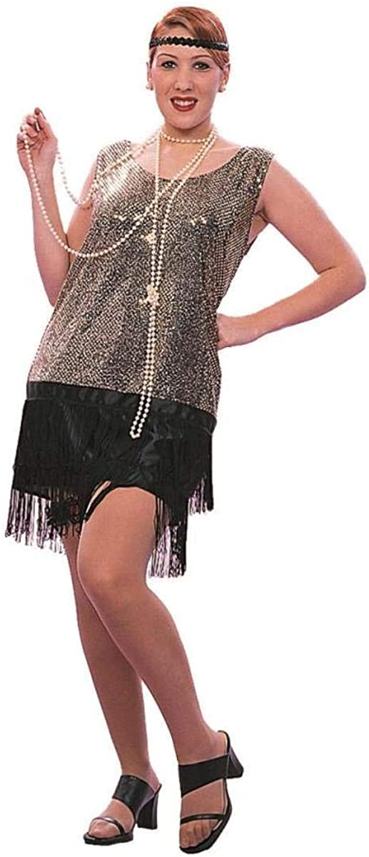 Sequin Flapper - Black XL Product Costume Limited time sale X-Large Adult