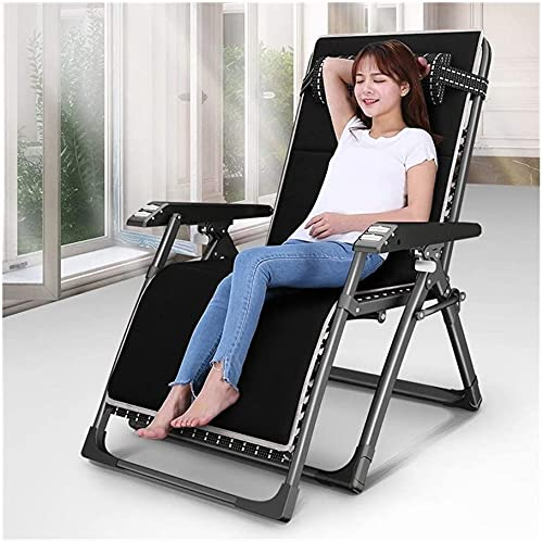 Terrasse Liegestuhl Zero Gravity Recliner Stuhl Garten Liegestühle und Recliner Falten Einstellbare Sonnenliegen Stuhl Sonnenliegen Liegestuhl Für den Strand Pool Outdoor Patio Camping Füße Stahl Fett