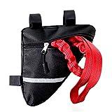 Cuerda de remolque para bicicleta, cuerda de remolque de alta resistencia para niños con bolsa de manillar elástica de hasta 8,5 pies para paseos familiares al aire libre caminar correr (rojo)