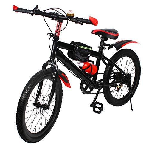 Kaibrite, mountain bike da 20 pollici, multi velocità, doppio freno a disco, bicicletta da uomo e da donna (rosso)