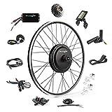 EBIKELING 48V 1200W 700C Direct Drive Waterproof Electric Bike Kit - Ebike Conversion Kit - Electric Bike Conversion Kit (Rear/LCD/Thumb)
