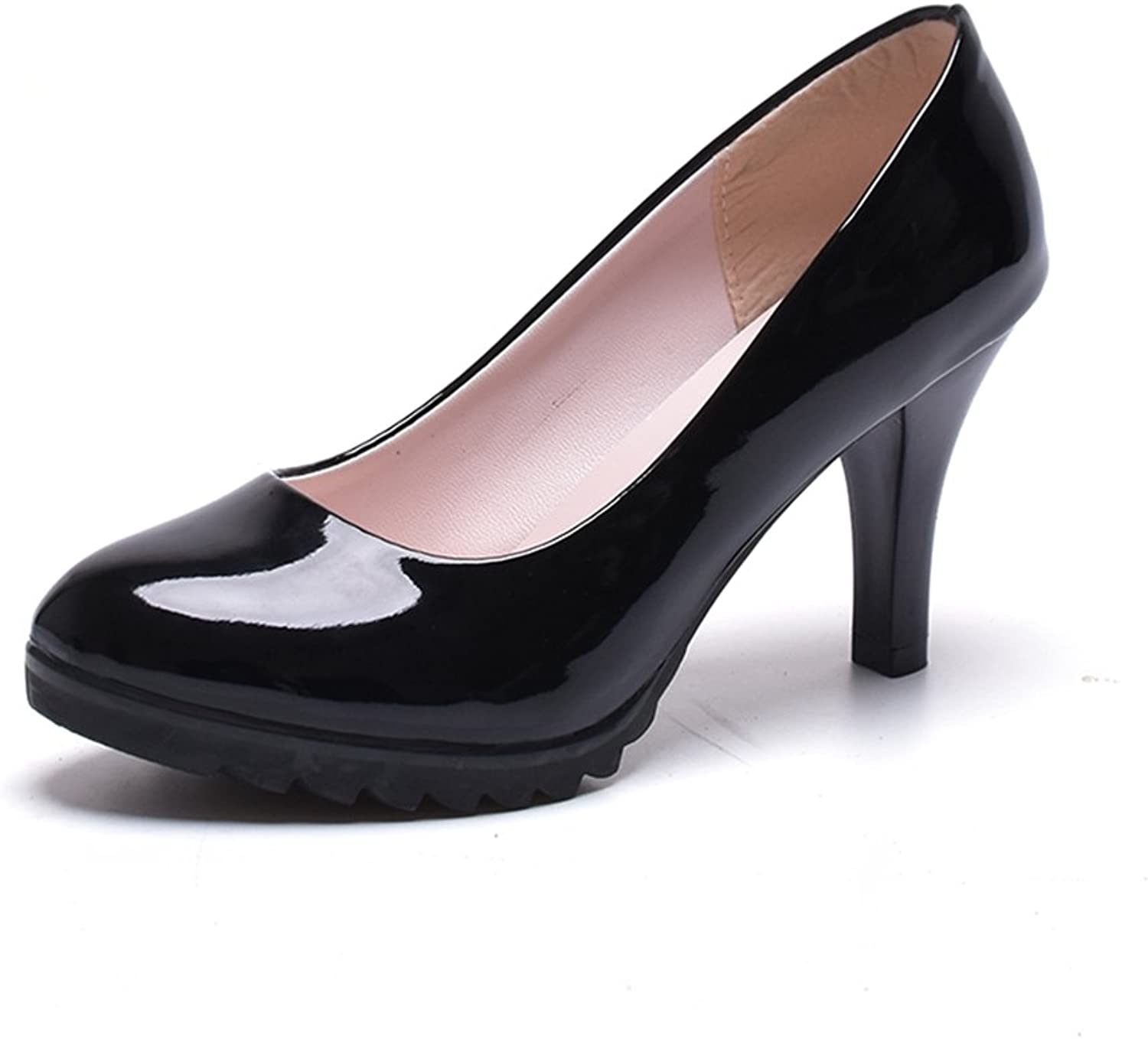 Exing Women's shoes Leather Summer Fall shoes Light up shoes Heels Stiletto Heel Platform Heel for Casual Dress Party