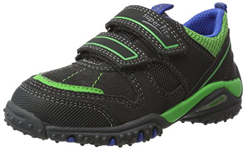 Superfit Jungen SPORT4 Sneaker, Grau (Charcoal Multi), 34 EU