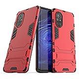 Happy-L Coque pour Huawei Nova 8, double couche en TPU souple + PC rigide antichoc avec béquille...