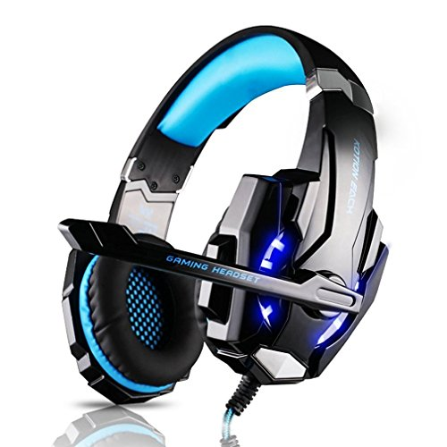 Elepawl Auriculares Cascos Gaming para PS4/PC/Xbox One, Cascos Gaming de Micrófono Juegos...