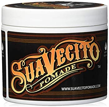 Suavecito Pomade Original Hold 4 oz 1 Pack - Medium Hold Hair Pomade For Men - Medium Shine Water Based Wax Like Flake Free Hair Gel - Easy To Wash Out - All Day Hold For All Hairstyles
