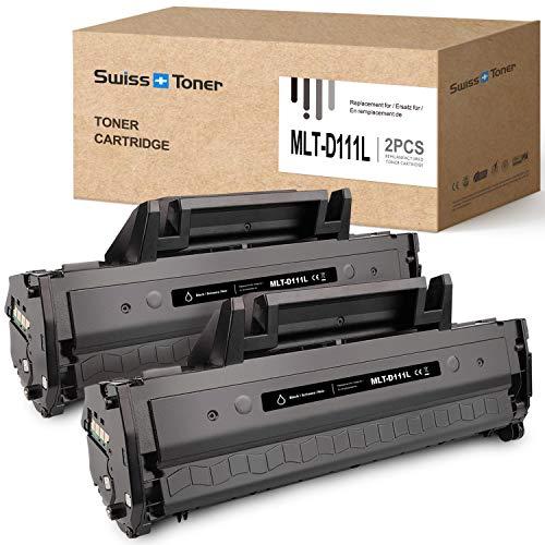 SWISS TONER 2 Nero MLT-D111L |1800 Pagine| Cartucce toner Compatibile per Samsung MLT-D111L MLTD111L per Samsung Xpress SL-M2070W M2026W M2070 M2026 M2070FW M2020 M2022W M2020W M2022 Stampante