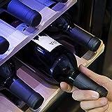 Cecotec Weinkühlschrank von 8-16 Flaschen. Tür aus Kristall- Design, Paneel Taktil und LED Bildschirm. (16, Holz) - 5