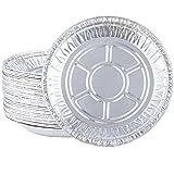 7 inch aluminum foil pie pans - Aodaer 40 Pack 7 Inches Disposable Aluminum Foil Pans Round Foil Tart Pan Disposable Tin Foil Pans for Cooking, Baking