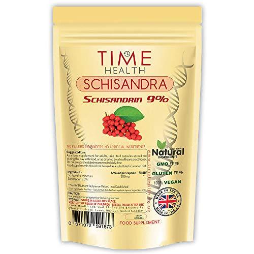 Schisandra chinensis – 9% Schisandrin – 100% Vegan – Zero Additives (60 Capsules)