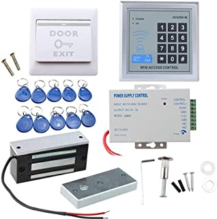 Door Access Control System, AGPtEK RFID Home Security Kit with 60kg 130LB Electromagnetic Lock, Power Supply, Proximity Do...