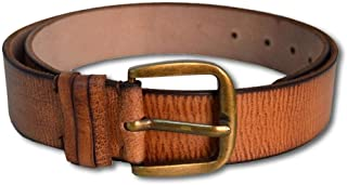 YZBuyer Trending Tan Shade Genuine Pure Leather Ideal Belt for Boys/Men's