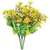 WINOMO 3 unids Artificial Silvestre Flores de Crisantemo Simulación de Seda Daisy Bouquet Planta Paquete para la...
