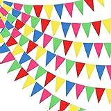 Xinlie Colorate Bandiera di Pennant Bandierine Colorate Bandierine Triangolari Bandierine Feste Festoni Festone Striscione per Giardino Natale Halloween Festa Compleanno Matrimonio(300 pezzi)