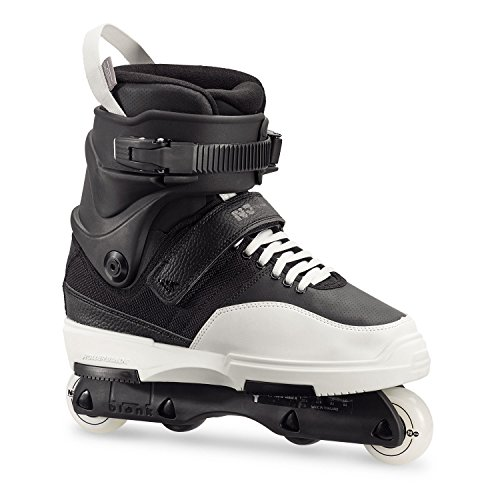 Rollerblade NJ Team, Pattini Aggressive Unisex Adulto, Nero/Bianco, EU 44