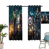 Verdunkelungsvorhänge The Avengers Poster Fashion