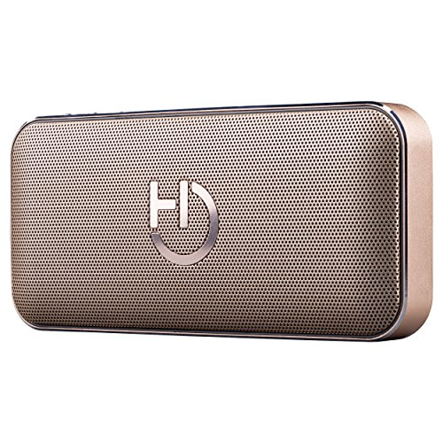 Hiditec | Mini Altavoz Dorado Portátil Bluetooth 4.1 | Altavoces Inalámbricos Potentes...