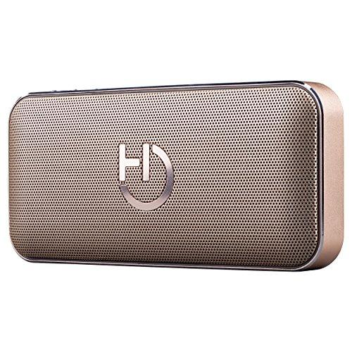 Mini Altavoz Dorado Portátil Bluetooth 4.1 | Altavoces Inalámbricos Potentes (10W) y...